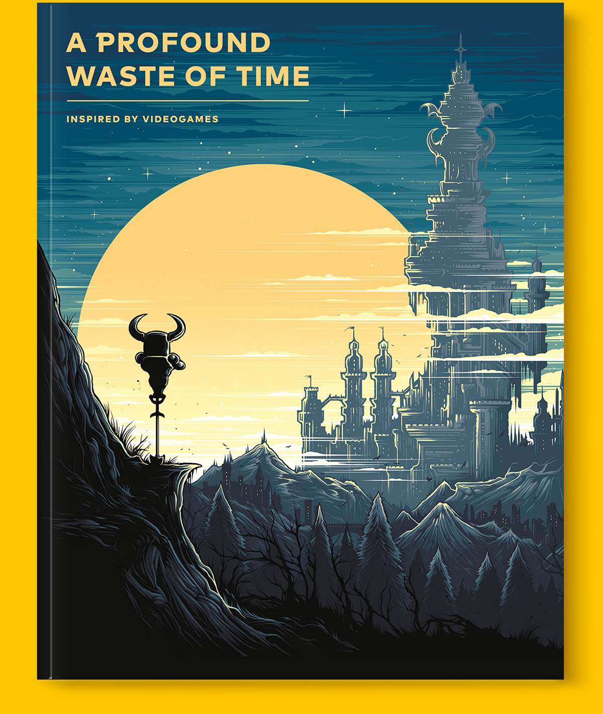 Magazine cover for special edition version of A Profound Waste of Time gaming magazine