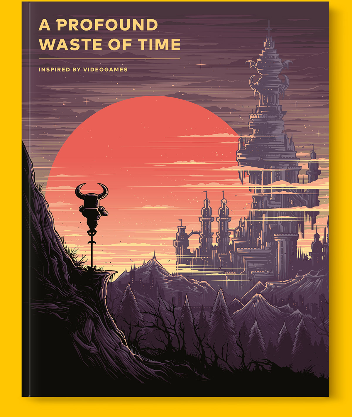 Magazine cover for standard version of A Profound Waste of Time gaming magazine